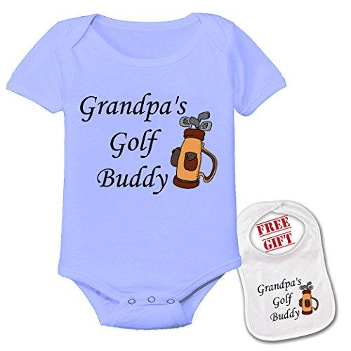 Cotton Golf Bib - Apparel USA Grandpa's Golf Buddy Cute Theme Baby Bodysuit Onesie & Matching bib