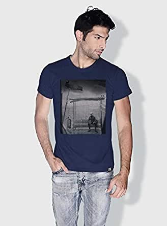 Creo Bus Station Skulls T-Shirts For Men - L, Blue