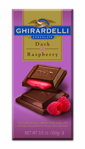 Ghirardelli Chocolate Dark Chocolate With Raspberry Filling, 3.5-Ounces Packages (Pack of 12) by Ghirardelli