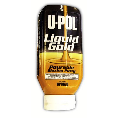 U-Pol Products 0670 LIQUID GOLD Glazing Putty Bottle - 615ml w/hardener