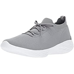 Skechers Performance Women's You-Shine Sneaker, Gray, 8.5 M US