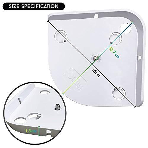 Baby Monitor Mount (White) - Corner Camera Shelf for Infant Optics DXR-8 DXR-5 Arlo Baby Babysense 7 Hello Baby Motorola - Universal Wall Mounts Crib Cam Holder for Infants Video Monitoring by Sully by Sully (Image #8)