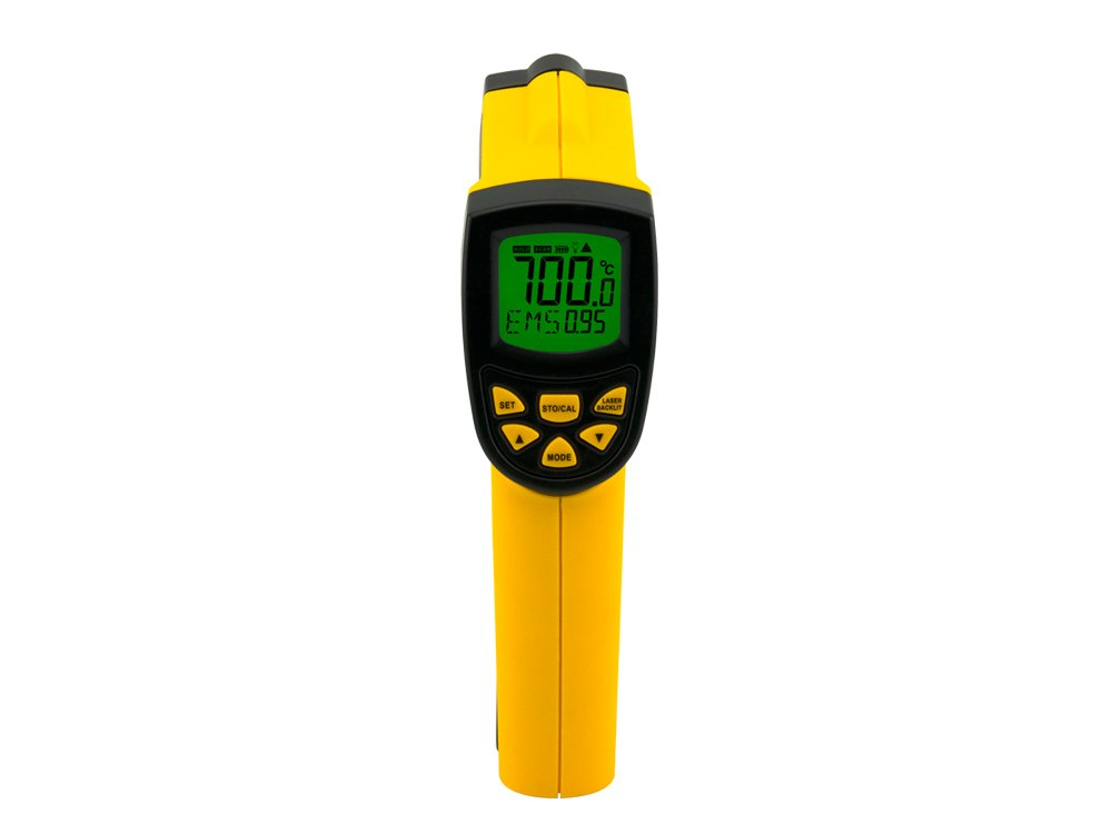 Infrared thermometer IR Pyrometer non-contact digital thermometer laser temperature gun meter measure tools -50~700C(-58-1292F) AR852B+
