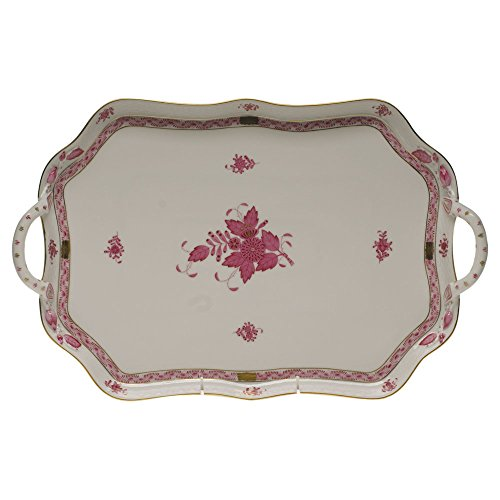 - Herend Chinese Bouquet Raspberry Rectangular Tray