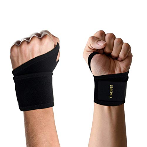 Carpal Tunnel Wrist Support Pain Relief Wrist Brace 2pcs Breathable Wrist Strap Arthritis Hand Support Wrist Compression for Sport- Adjustable Injury Recovery Brace for Left//Right Hand