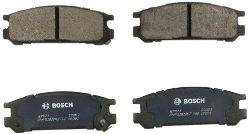 (Bosch BP471 QuietCast Premium Semi-Metallic Disc Brake Pad Set For Subaru: 1995-1998 Impreza, 1990-1999 Legacy, 1992-1997 SVX; Rear)