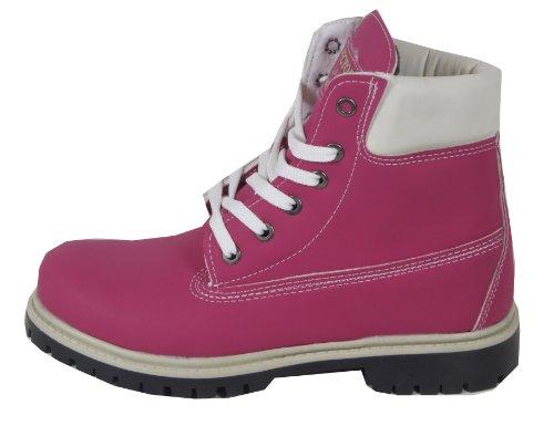 Brandmix - Botas Militar Mujer Rosa - new-pink