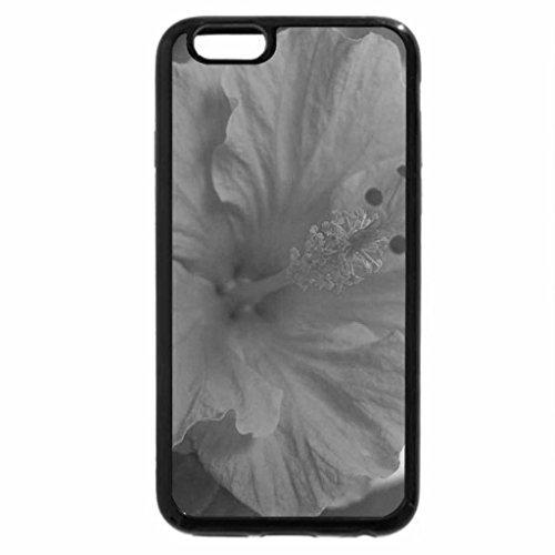 iPhone 6S Case, iPhone 6 Case (Black & White) - ORANGE HIBISCUS