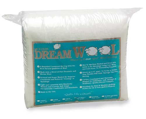 Quilters Dream Wool Batting Twin SiZe 72