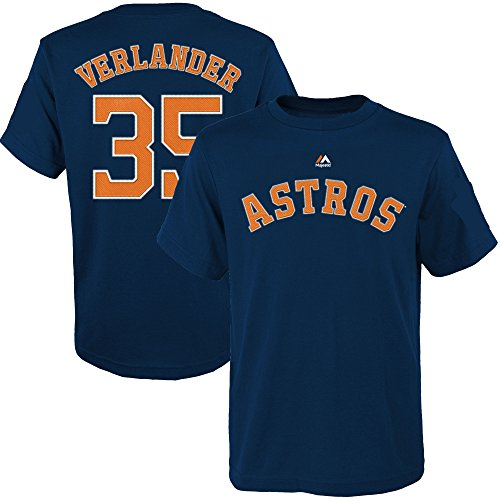 Outerstuff Justin Verlander Houston Astros #35 MLB Youth Player T-Shirt Navy (Youth Medium 10/12)
