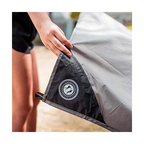 41ZBcB69EHL BERGBRUDER Nylon Picknickdecke im Hosentaschenformat - Wasserdicht, Ultraleicht & kompakt - Ground Sheet, Pocket Blanket…