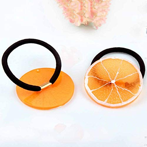 (Fashion Hairbands Fruit slices Cute Girl Hair Accessories Elastic Hair Tie Rope (Size - 9-Grapefruit))