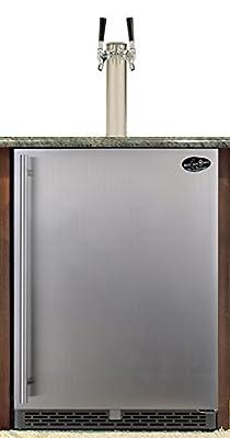 Beer Meister dual tower with stainless door built-in kegerator - Premium Series