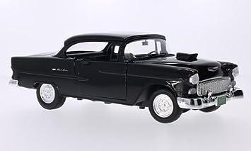 Chevrolet Bel Air Tuning Schwarz 1955 Modellauto Fertigmodell Motormax 1 18 Spielzeug