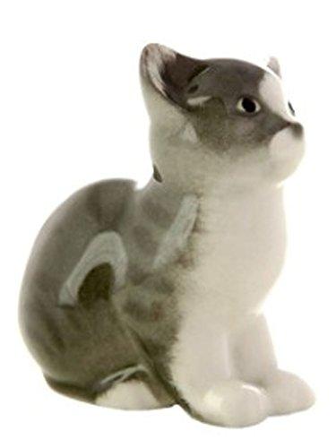 Kitten Gray Lomonosov Porcelain Collectible Figurine