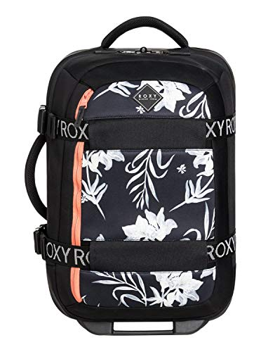Roxy Womens Wheelie Neoprene - Wheeled Cabin Bag - Women - One Size - Black Anthracite One - Carry Roxy On
