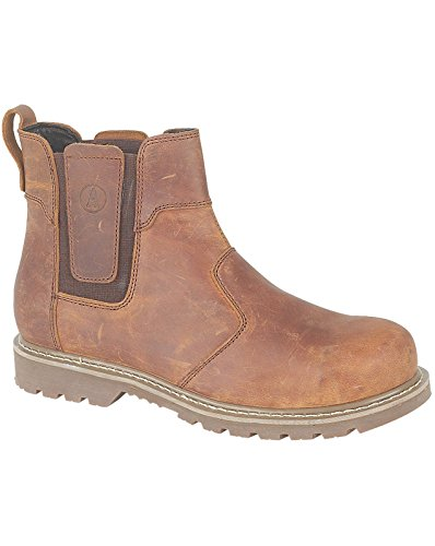 Amblers Mens Abingdon Pull On Leather Dealer Boot Brown Brown
