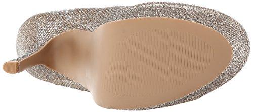 Qupid Women's Onyx-177 Platform Pump Champagne Glitter Polyurethane C8qqQ0