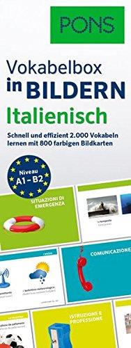 PONS Vokabelbox in Bildern Italienisch: Schnell & effizient Vokabeln lernen mit 2.000 Wörter auf 800 farbigen Bildkarten