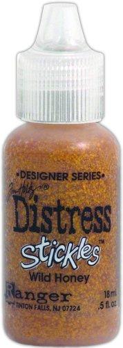 Ranger TDS-28994 Tim Holtz Designer Series Distress Stickles Glitter Glue, Wild Honey, 0.5-Ounce