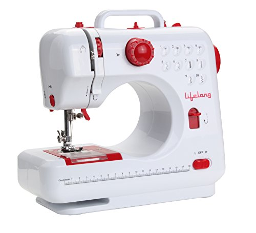 Lifelong SM21 Sewing Machine – 10 Stitch with foot pedal and light