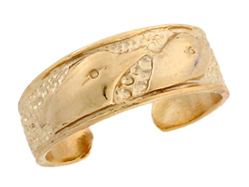 10k Yellow Real Gold Dolphin Designer Toe Band by Jewelry Liquidation (Image #1)