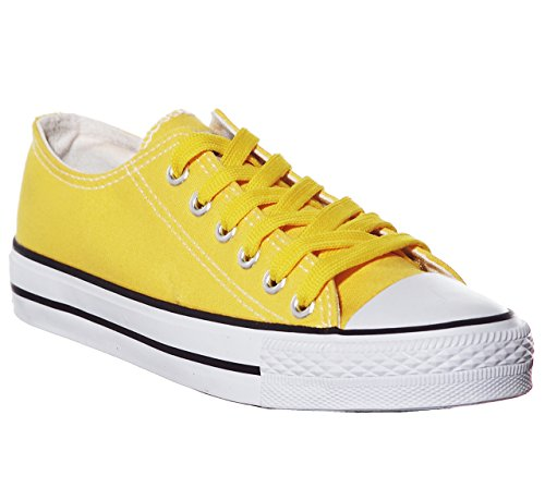 (Canvas Sneaker (5, Yellow))