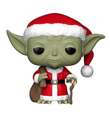 Funko Pop Star Wars: Holiday - Santa Yoda Collectible Figure, Multicolor