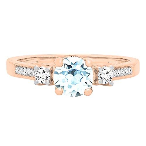Wedding Rings - Dazzlingrock Collection 10K Rose Gold 6 MM