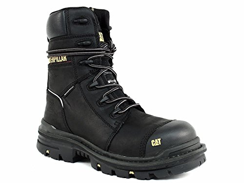 Caterpillar Men's Mortise 8'' Waterproof Work Boot Composite Toe Black 11.5 D(M) US by Caterpillar (Image #8)