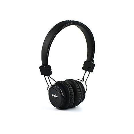 GranVela XP1 plegable On-Ear auriculares inalámbricos Bluetooth Apoyo reproductor de micro sd tarjeta Bluetooth, micrófono con radio FM integrada, regalo, ...