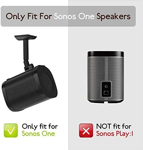 Verstellbare Wandhalterung Und Deckenhalterung Für Sonos One Sl One Schwenk Neigungsverstellung Montagewinkel Für Sonos One Sl Lautsprecher Schwarz Elektronik