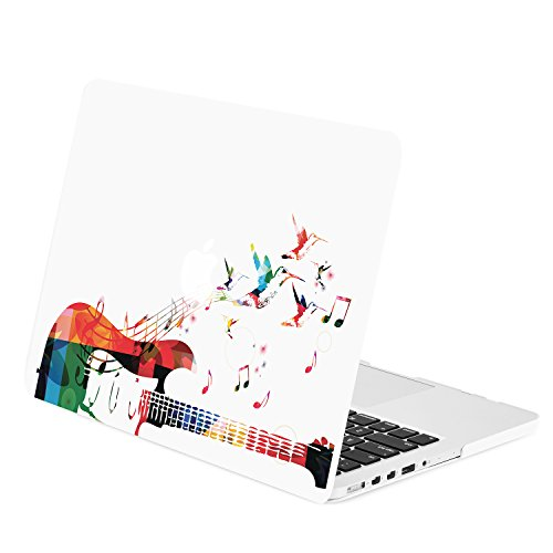 TOP CASE - Retina 13-Inch Guitar Art Print Graphic Rubberized Hard Case Cover for MacBook Pro 13