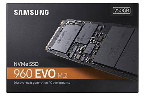 Samsung 960 EVO Series - 250GB PCIe NVMe - M.2 Internal SSD (MZ-V6E250BW)