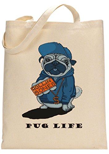 Pug Thug Life Funny Custom Made Tote Bag