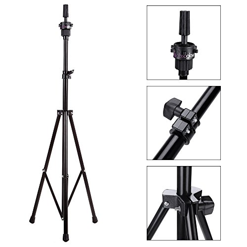 The Revo Wig Mannequin Head Tripod Stand with Carry Bag for Cosmetology By Absoglow