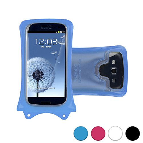 DiCAPac WP-C1 Universal Waterproof Case for Verykool RS90 Vortex/s401 Aura/s4010 Gazelle/ in Blue (Double Velcro Locking System; IPX8 Certified Underwater Protection; Super Clear Photo - A Of Picture A Gazelle