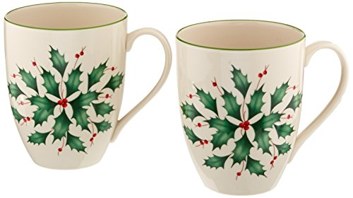 Lenox 2-Piece Holly Mug Set