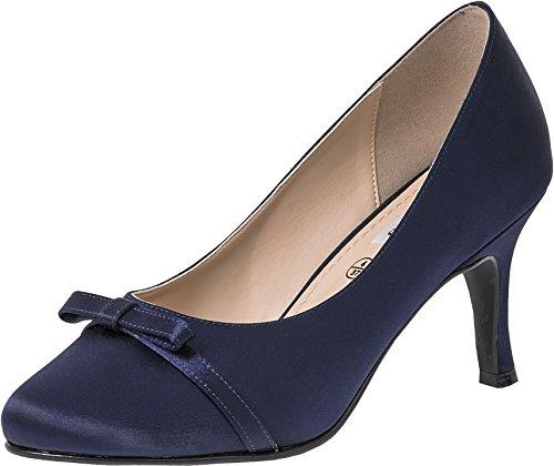 LEXUS Leela - Zapatos de vestir para mujer azul marino