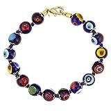 GlassOfVenice Murano Glass Mosaic Bracelet - Navy Blue