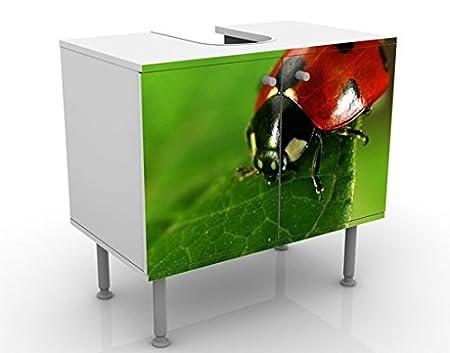 lavandino Regolabile Apalis Mobile per lavabo Design Lady Bird 60x55x35cm mobiletto Larghezza: 60cm Mobile da Bagno Basso mobiletto da lavabo lavabo Bagnetto Bagno mobiletto da lavandino
