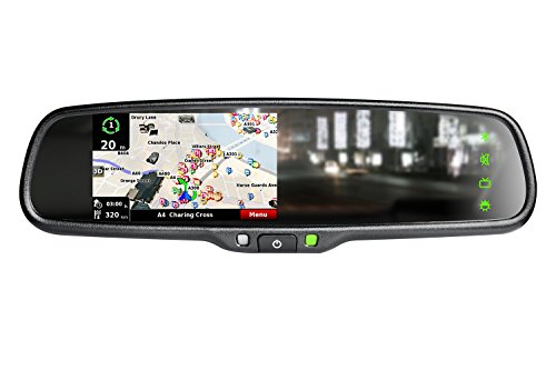 Cheap iMirror OEM styled car rear rearview mirror monitor with GPS navigation with iGO map, bluetooth handsfree and backup camera display touch screen
