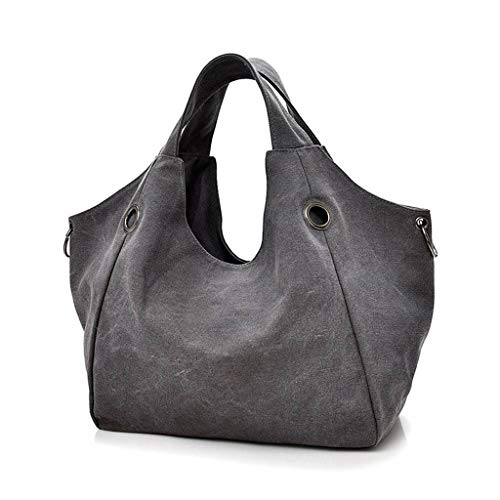 Extra Large Vintage Canvas Hobo Handbags Oversized Tote Shoulder Shopper bag Purse for Women Teachers with Zipper