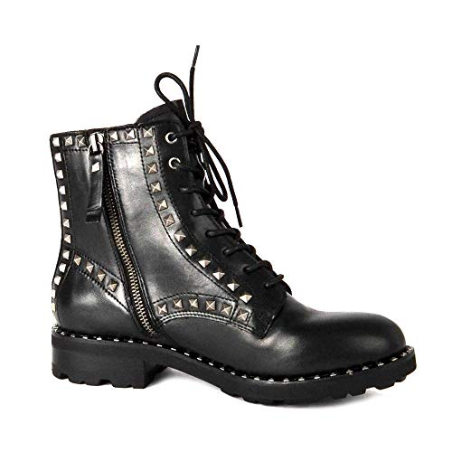 Wolf Black Ash Boot Studded Footwear Nero 40 Leather Lace Up 5qppOwZU