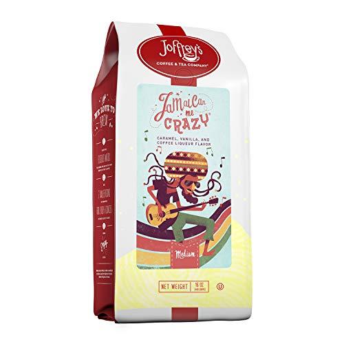 Joffrey's Coffee – Jamaican Me Crazy, Flavored Coffee, Artisan Medium Roast, Arabica Coffee Beans, Caramel, Vanilla…