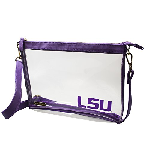 Capri Designs Clear Large Crossbody Bag Stadium Approved - LSU Tigers ()