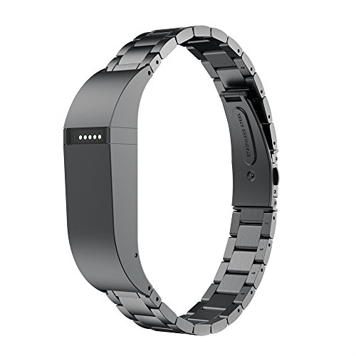 certainPL Bands for Fitbit Flex, Stainless Steel Wrist Band Replacement Strap Compatible with Fitbit Flex (Black)