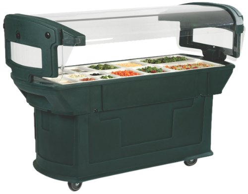 6' Maximizer - Carlisle 771159 Maximizer Portable Food Buffet and Salad Bar, 6 Foot, Slate Blue