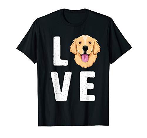 LOVE Golden Retrievers T-Shirt for Women KIds Dog Pet Gift T-Shirt (Retriever Golden Presents)