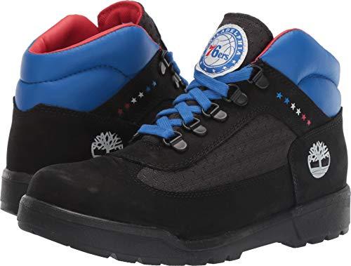 Timberland Kids Boy's Philadelphia 76ers Field Boot (Big Kid) Black Fabric/Leather 6 M US Big Kid Big Kid Field Boot